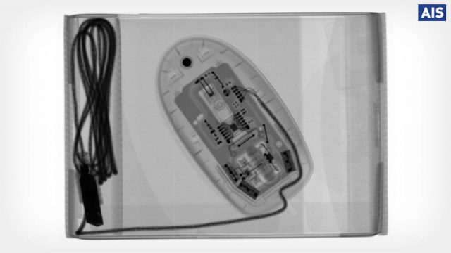 X-ray for inspection of computer mouse